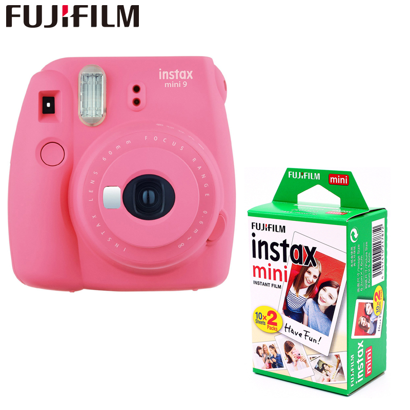 Genuine Fujifilm Instax Mini 9 Instant Film Camera + 20 sheets fujifilms white egde fuji Photo Camera Pop-up Lens Auto 5 colors new 5 colors fujifilm instax mini 9 instant camera 100 photos fuji instant mini 8 film
