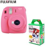 Genuine Fujifilm Instax Mini 9 Instant Film Camera + 20 sheets fujifilms white egde fuji Photo Camera Pop up Lens Auto 5 colors