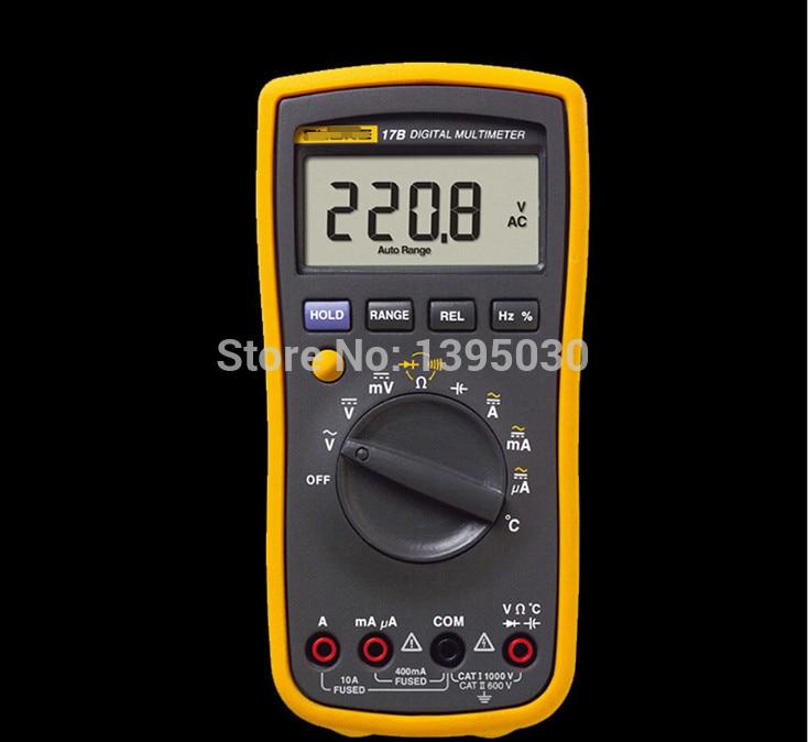 1PC New F17B 17B 15B Frequency Temp Digital Multimeter Meter Tester AC/DC/Diode/R/F/Temp/Cap F-17B my68 handheld auto range digital multimeter dmm w capacitance frequency