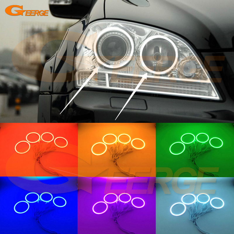 For Mercedes-Benz M-Class ML320 ML350 ML500 ML63 AMG 2006 2007 Excellent Multi-Color Ultra bright RGB LED Angel Eyes kit for mercedes benz b class w245 b160 b180 b170 b200 2006 2011 excellent multi color ultra bright rgb led angel eyes kit