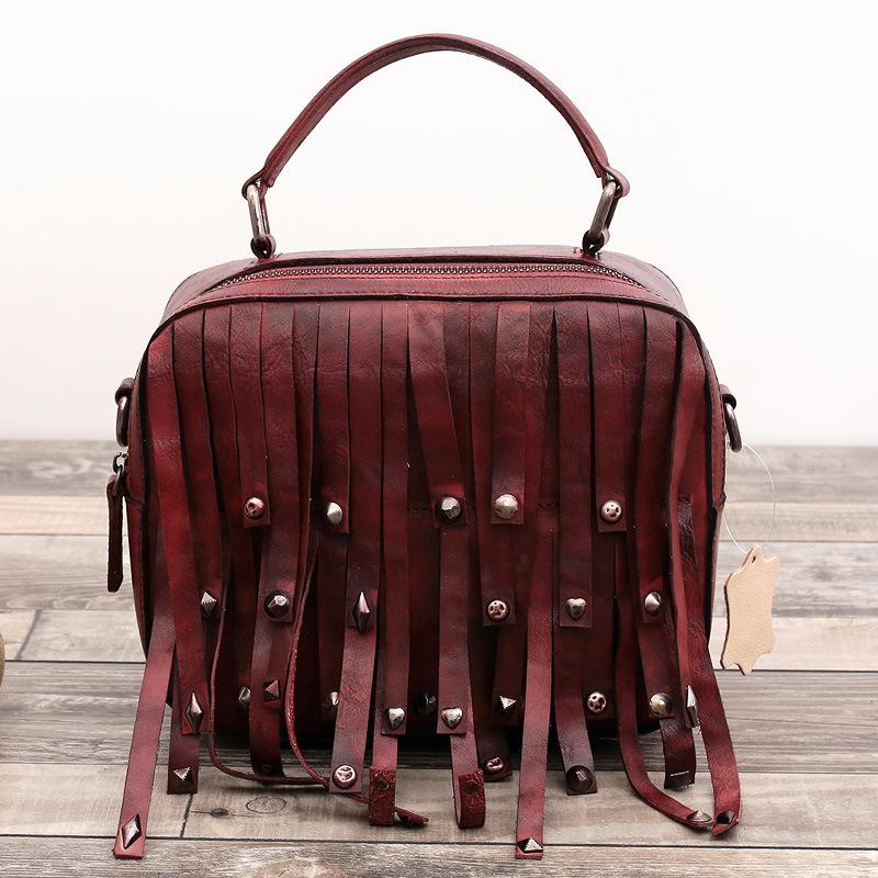 bd6ba59e425 Designer Handbags High Quality Head Layer Cowhide Retro Small Bag Genuine  Leather Trunk Totes Tote Vintage Soft & Crossbody Bags-in Top-Handle Bags  ...