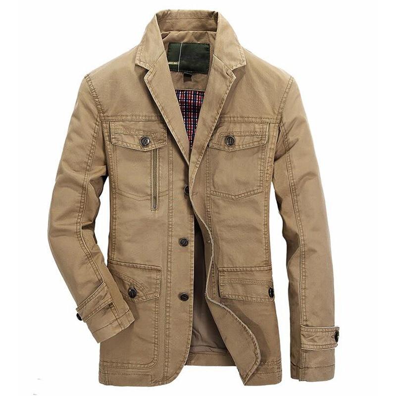 Men washed cotton casual blazer brand military jacket blazers mens spring autumn suit coat male blazer casaco masculino jackets