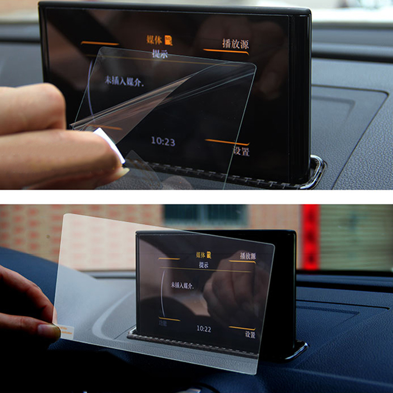 For Audi A3 <font><b>8V</b></font> 2013 2014 2015 2016 2017 2018 GPS Navigation Tempered Glass Screen Cover Protective Film 8 inch Car Accessories image