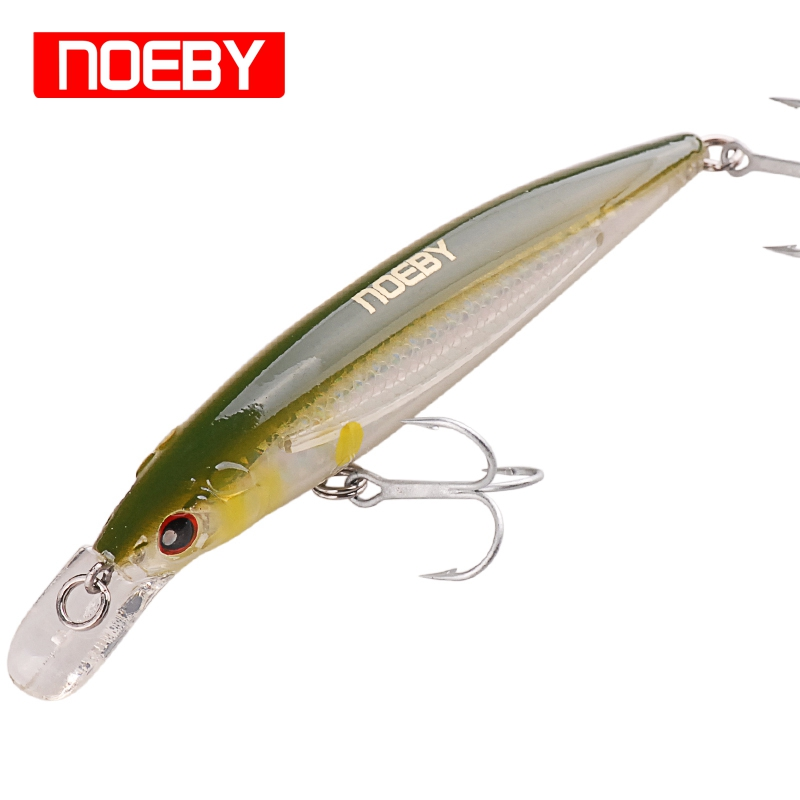NOEBY Minnow Hard Fishing Lure Bait 120mm/22g 100mm/13.6g Floating Wobbler Isca Artificial Pesca Swimbait Fly Fishing Tackle футболка print bar danger toxic