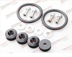 Czarny aluminium szybkie uwolnienie elementów złącznych zestaw do zderzak i luków bagażnika samochodu/ciężarówki QUKFAS-01-BLACK