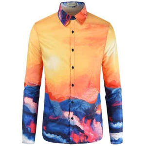 Printed Shirt Long-Sleeves Floral-Design Casual Summer High-Quality 3D with And New-Product:men's