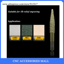 LOXA C series SHK 8mm marble relief CNC engraving diamond tool,Conical Head stone carving bits