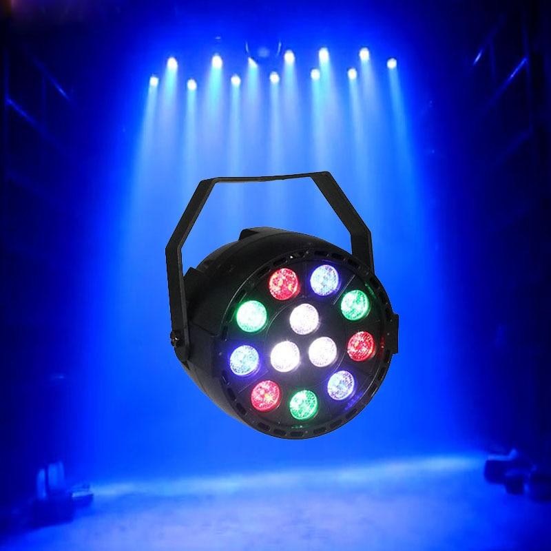 12X1W LEDs Par Sound Active DMX512 Led Stage Par Light Purple Led Spotlight Lamp For Christmas Home Party Disco DJ Projector