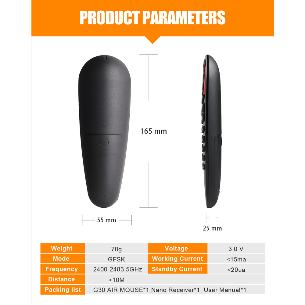 L8star G30 Remote control 2 4G Wireless Voice Air Mouse 33