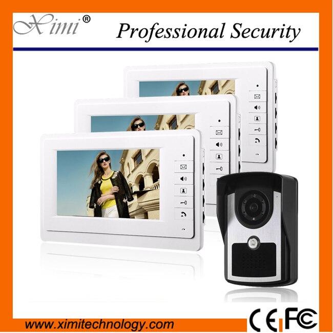 Good quality IP64 waterproof 7 inch video door bell 420TVL outdoor camera 7 TFT color screen monitor intercom access control