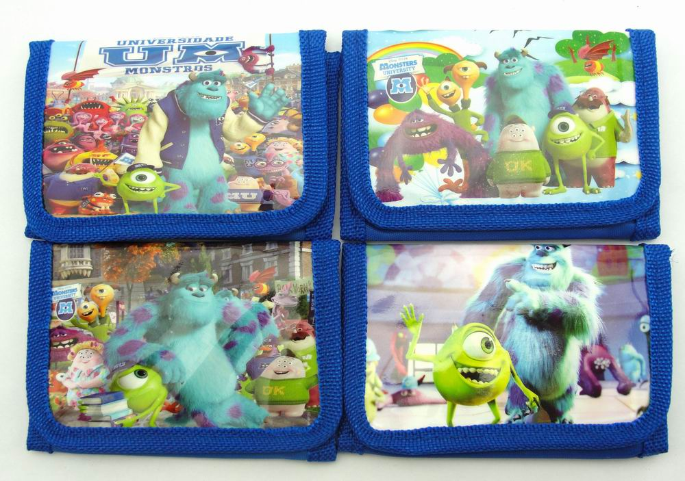 12Pcs Monster University Coin Purse Cute Kids Cartoon Wallet Bag Pouch Children Purse Small Wallet Party Birthday Gift free shipping 20pcs lot monsters university cartoon drawstring backpack bag children kids bag 34x27cm schoobag party gift