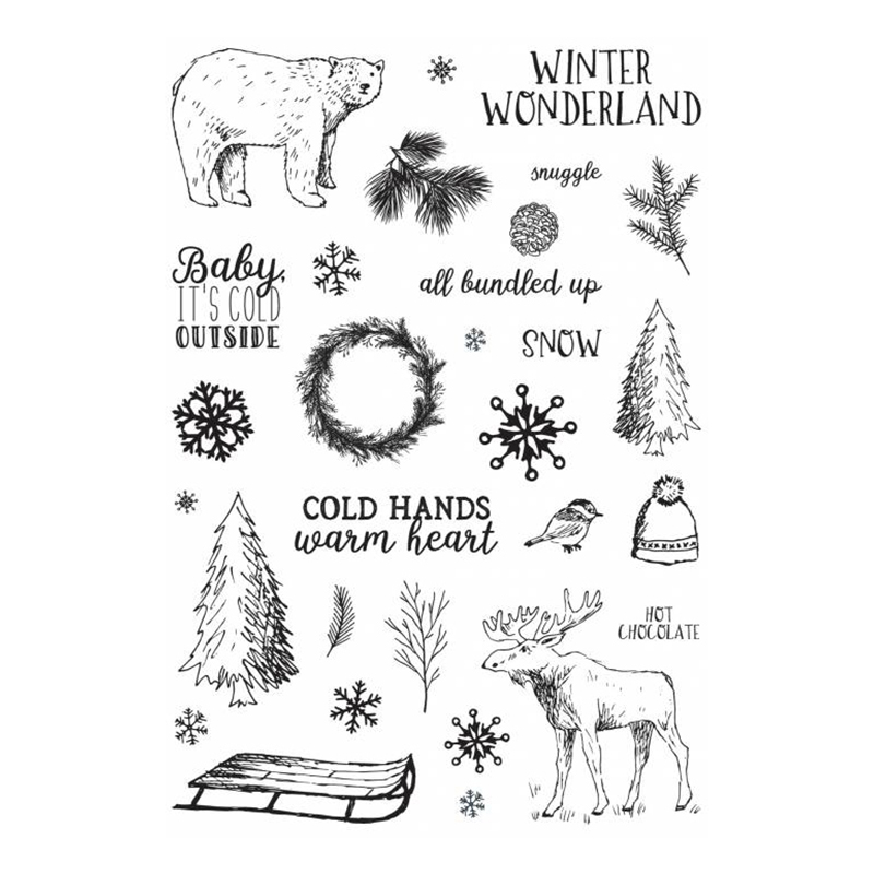 Polar bear and elk Transparent Clear Silicone Stamp/Seal for DIY scrapbooking/photo album Decorative clear stamp