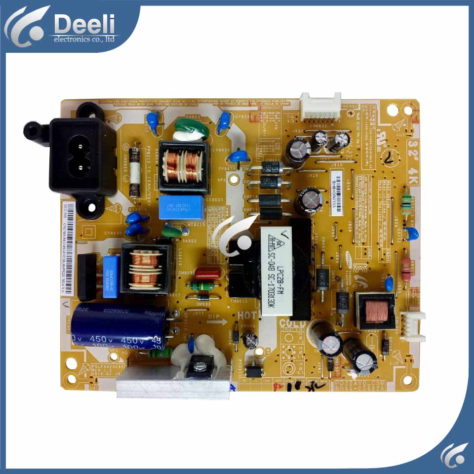 95% new original for Power Supply Board UA32EH4000R UA32EH4080R BN44-00492A used board good working 95% new used board good working original for power supply board la40b530p7r la40b550k1f bn44 00264a h40f1 9ss board