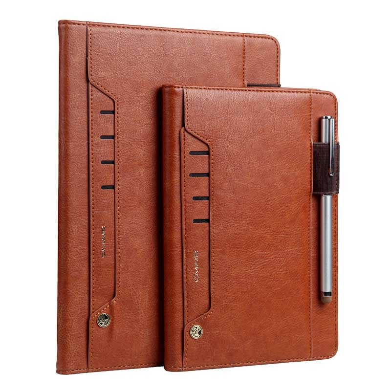 Newest Multifunction Retro Leather Case for iPad Air2 9.7 Foldable Stand Business Card Smart Cover for Apple iPad6 iPad Air2 image