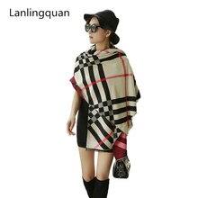Za brand Desigual pashmina cashmere shawl blanket scarf bandana hijab Fashion winter over luxury plaid new designer wrap
