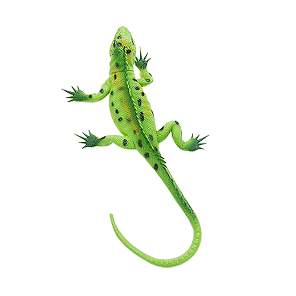 Kids Science Educational Vivid Reptile Toys Animal Rubber Lizard Model Action Figure Toy Gift - Green