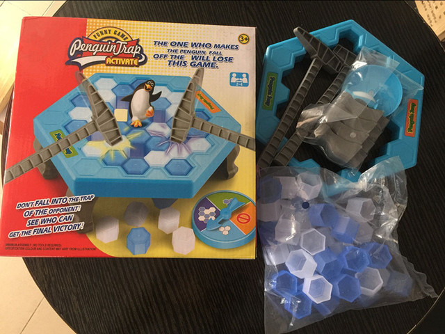New Ice Breaking Save The Penguin Great Family Fun Game - The One Who Make The Penguin Fall Off , The Will Lose This Game No box