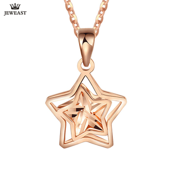 18K Pure Gold Pendant Real AU 750 Solid Gold Charm Beautiful Stars Upscale Trendy Classic Party Fine Jewelry Hot Sell New 2020
