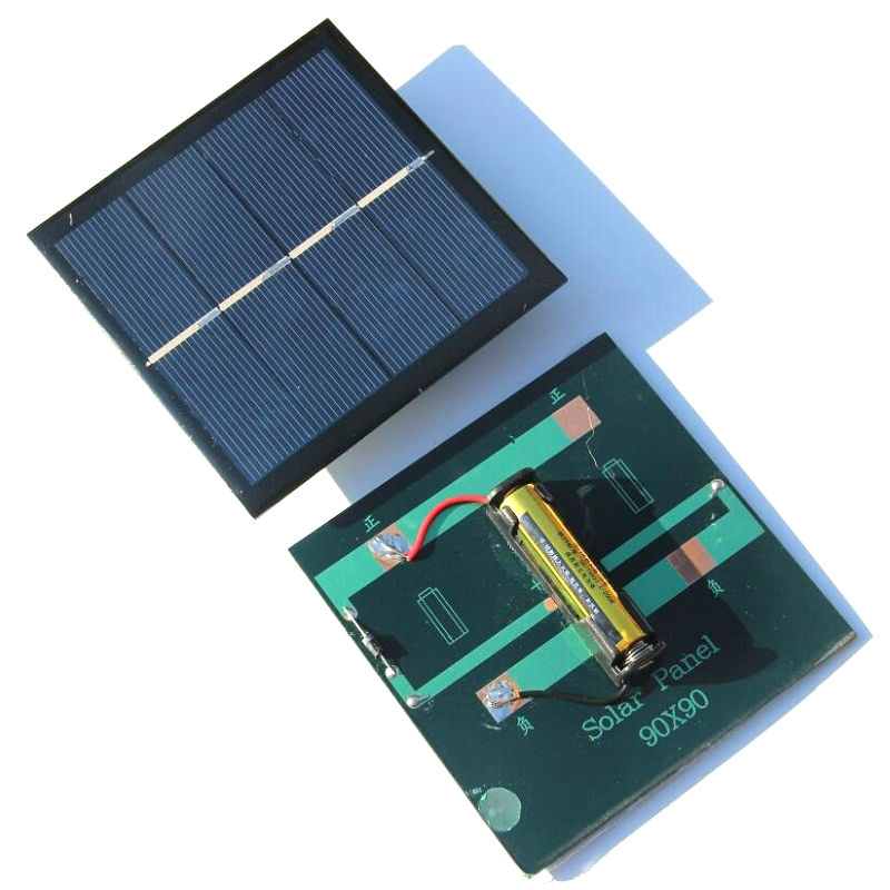 New 1W 2V Rechargeable AAA Battery Solar Cell Charger With Base For 1*AAA Battery Charging Directly High Quality Free Shipping