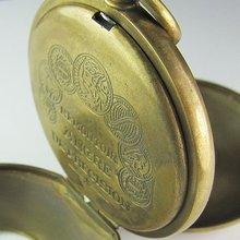 Старые Латунные антикварные двойные Механические карманные часы