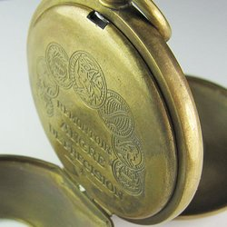 old 100% Brass Antique Double Cover Mechanical Pocket Watch freeship