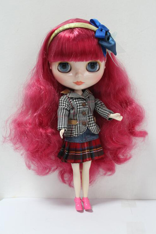 Free Shipping big discount RBL-139DIY Nude Blyth doll birthday gift for girl 4colour big eyes dolls with beautiful Hair cute toy free shipping bjd joint rbl 415j diy nude blyth doll birthday gift for girl 4 colour big eyes dolls with beautiful hair cute toy