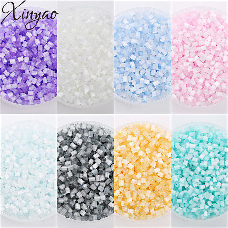 XINYAO 2018 New 3600pcs 8 Colors Glass Czech Seed Beads 1.8mm Column Spacer Crystal Bead ...