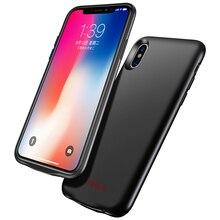 Cafele ультра тонкий чехол для зарядного устройства для iPhone 7, 8, 6, 6s Plus, X чехол для внешнего аккумулятора, чехол для резервного зарядного устройства для iPhone X