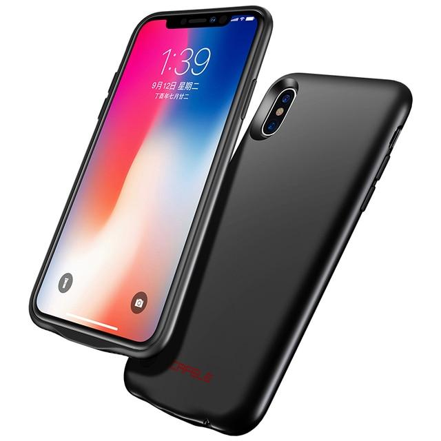 Cafele Ultra Slanke Batterij Oplader Voor iphone 7 8 6 6s Plus X Power Bank Case Backup Oplaadbare oplader voor iphone X