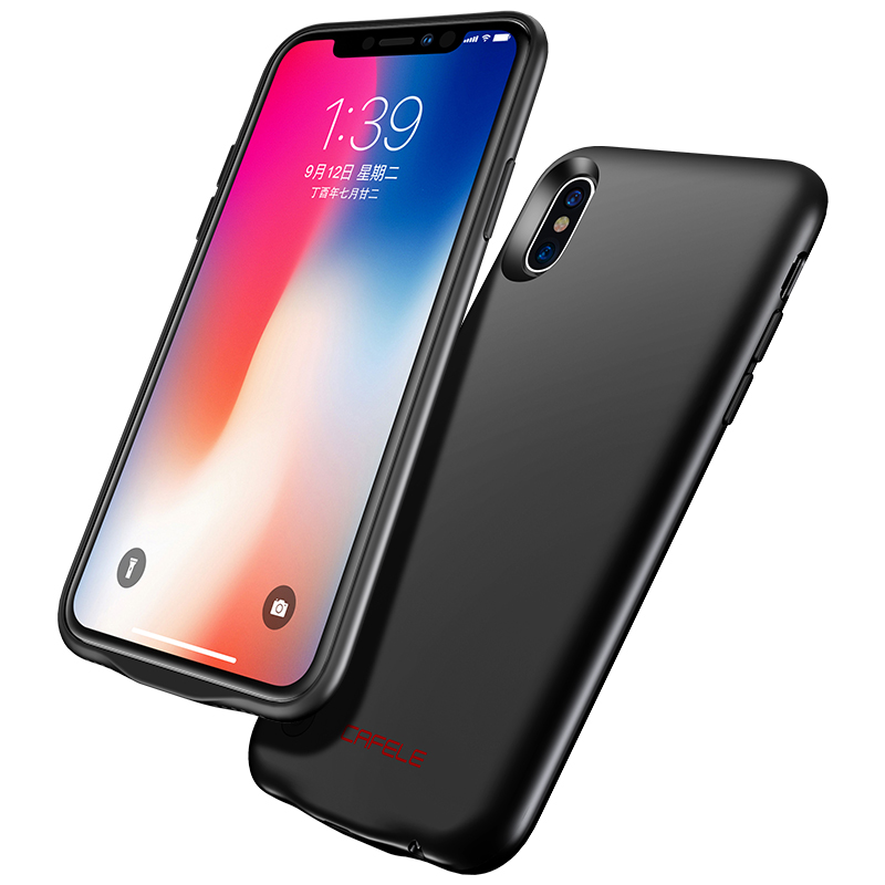 Cafele Ultra Slim <font><b>Battery</b></font> Charger <font><b>Case</b></font> For <font><b>iPhone</b></font> 7 8 <font><b>6</b></font> 6s Plus X Power Bank <font><b>Case</b></font> Backup Rechargeable Charger <font><b>Case</b></font> for <font><b>iPhone</b></font> X image