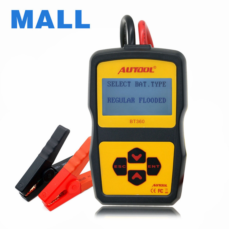 autool bt360 12v digital car battery tester for flooded agm gel bt 360 12 volt automotive. Black Bedroom Furniture Sets. Home Design Ideas