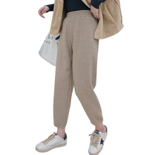 Elastic waist Cotton Corduroy Loose Women Harem Pants New Casual Brand Trousers Femme Radish pants straight