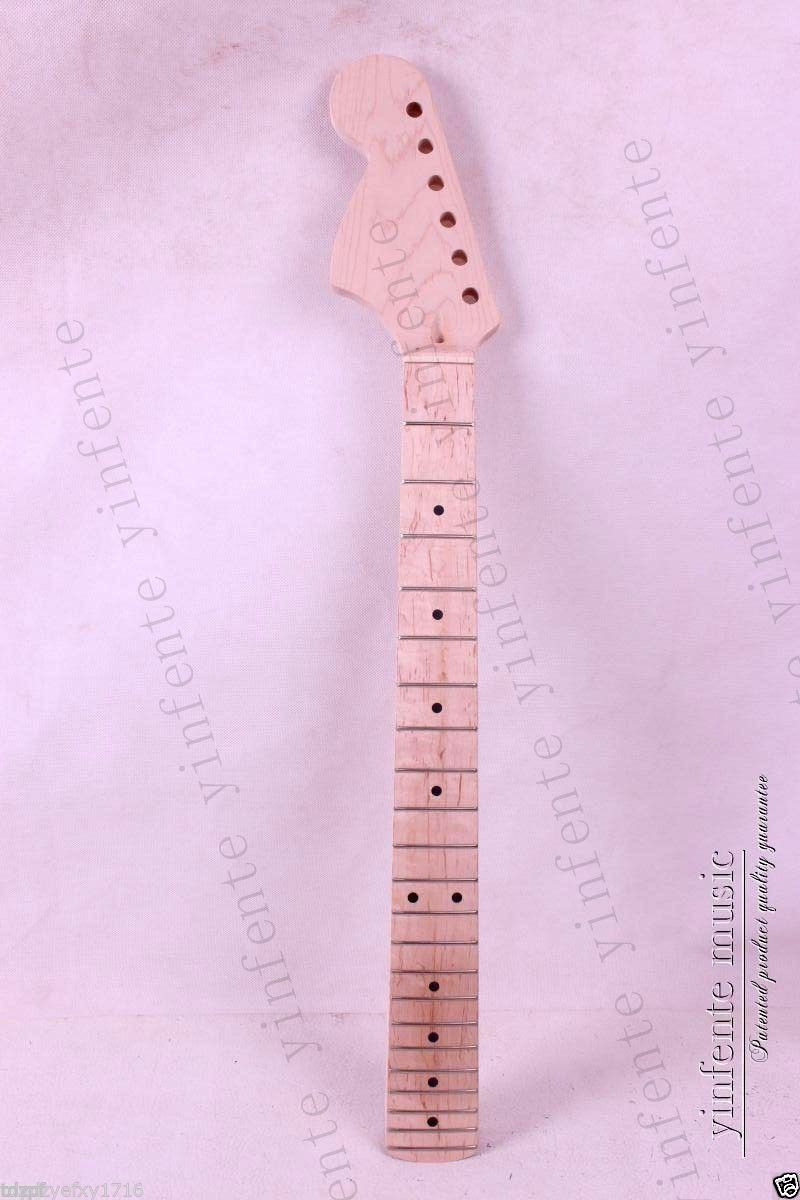 New electric guitar neck Maple wood Left Hand 22 Fret 25.5 inch Big Head Stock цена