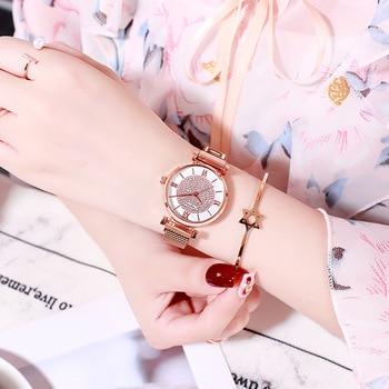 Women Magnetic Buckle Watch 2019 Luxury Brand Diamond Women Bracelet Wrist Watch For Ladies Wrist Watch Female Relogio Feminino 3