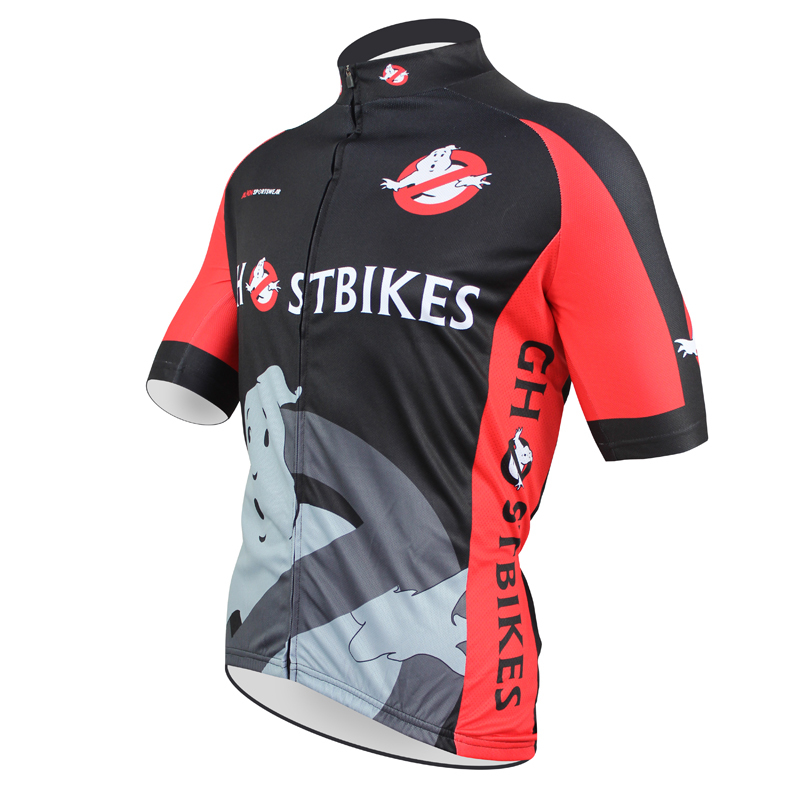 6e65c7800 Free shipping Ghost Busters Men Polyester Short sleeve Cycling Jersey Black  Breathable Full Zipper Bike Shirt Size XXS TO 5XL-in Cycling Jerseys from  Sports ...