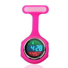 Digital Nurse Watch Silicone Pocket Watch with Clip