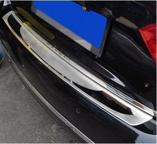 цена на Stainless Steel Sill Plate Cover Trim Rear Bumper Protector for VW Passat B6
