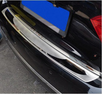 Stainless Steel Sill Plate Cover Trim Rear Bumper Protector for VW Passat B6