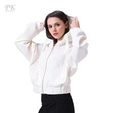 PK укороченная объёмная куртка оверсайза женская белая Уличная свободная куртка с капюшоном  Весна 2017 комфортная куртка