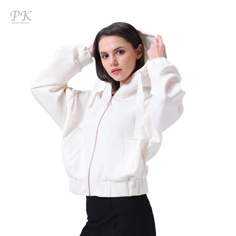 PK   Basic     Jacket   Coat Women Zipper Streetwear Female Oversize Veste Windbreaker Womens Autumn   Jackets   White Bomber   Jacket   Women