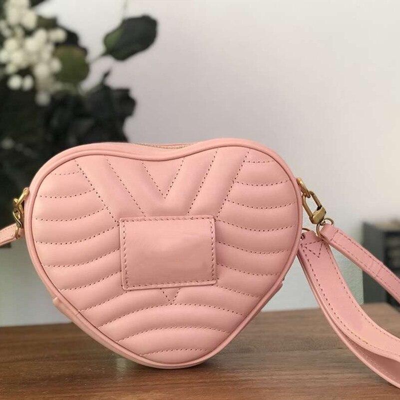 2019 Модные женские любимые в форме сердца кожа новая волна Сердце сумка женские сумки сумка смешанного цвета DHL доставка