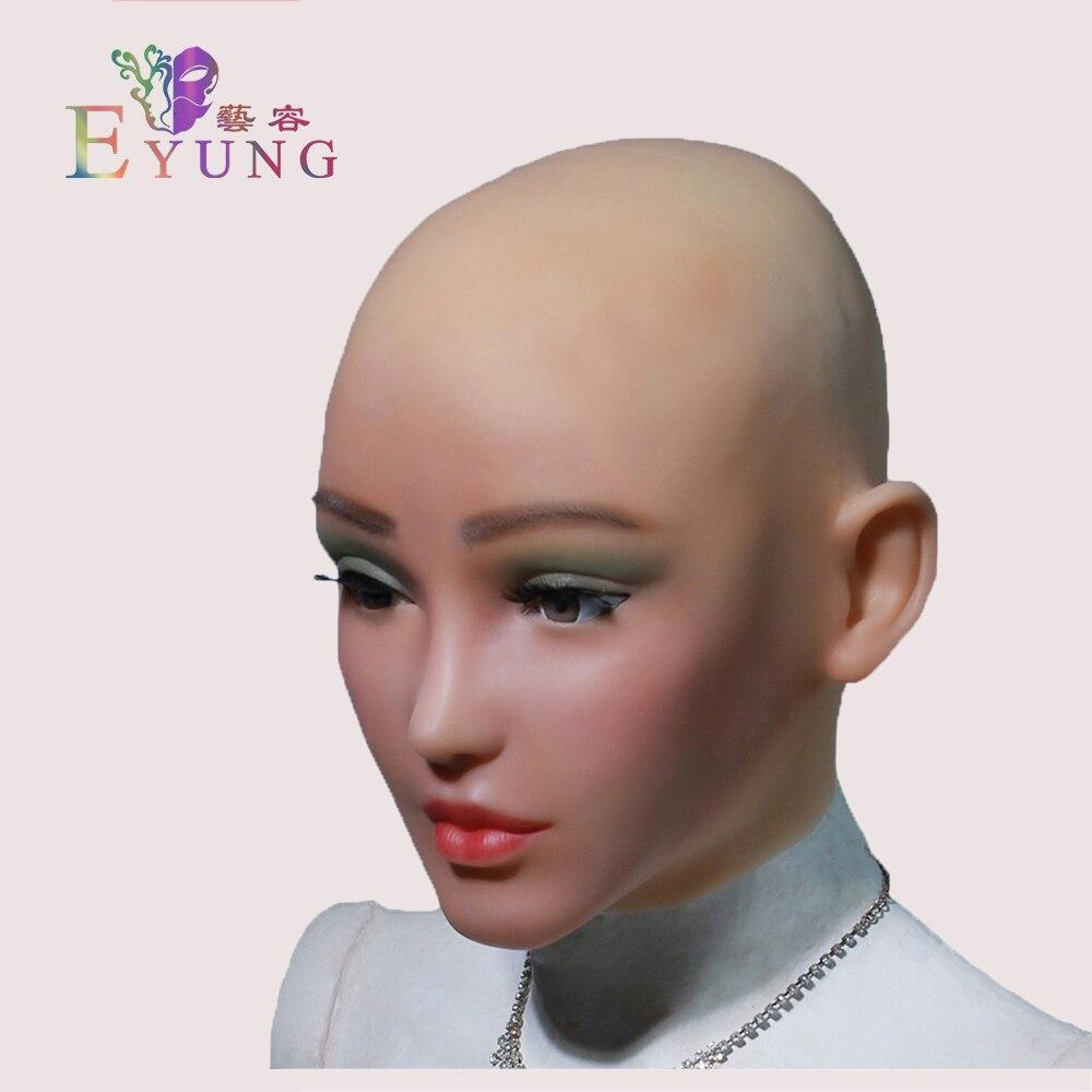 Eyung 2019 elsa anjo rosto feminino máscaras de silicone realista macio masquerade cosplay arraste rainha crossdresser masculino para feminino