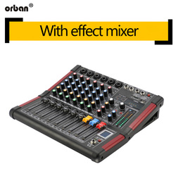 6-channel mixer pure Taiwan 99 kinds of DSP effects Bluetooth recording mixer 48v phantom power home performance