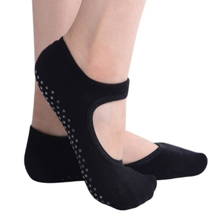 Women Ballet Dance Pilates Socks Backless Professional Fitness Pilates Socks Women Non-slip Dance Pilates Socks Women Grip Socks ...
