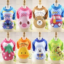 2017 New Arrival Dog Hoodie Cartoon Pet Hoodies Round Neck Pullover Pet Cats Hoody Warm Clothes for Dogs in Autumn/Winter XS-XXL