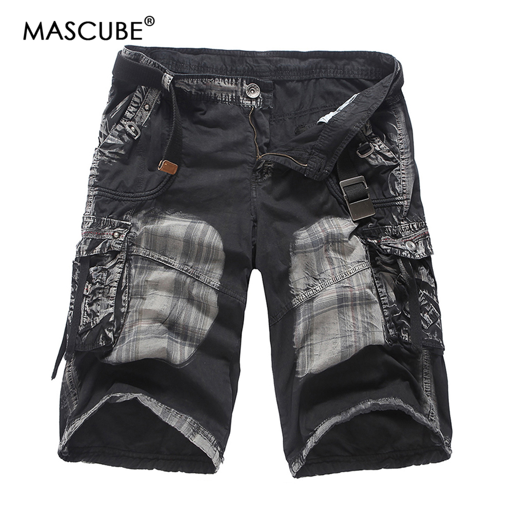 MASCUBE Mens Military Cargo Shorts 2018 Brand New Tactical Shorts Men 100% Cotton Loose Work Casual Short Pants Plus Size