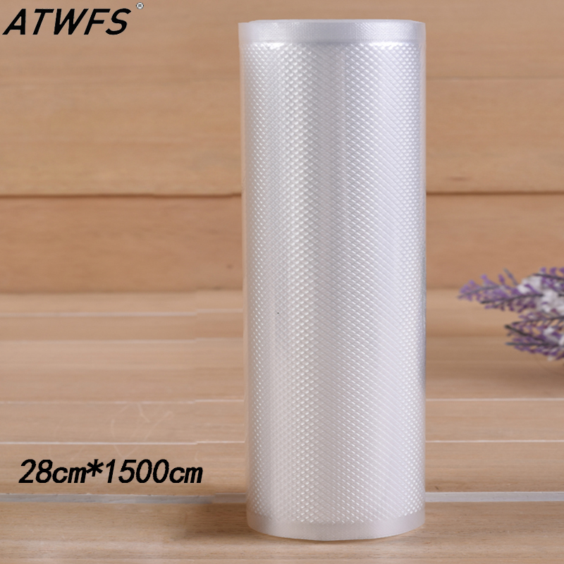 ATWFS 1500cm Vacuum Bag Kitchen Vacuum Sealer Bags for Food Saver Fresh Long Keeping Vakum Bag 1500cm* 15/20/25/28cm|Vacuum Food Sealers| |  - title=