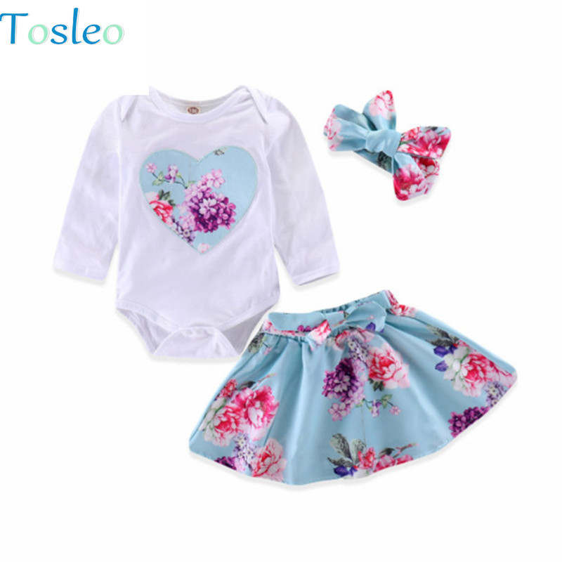 0ad6c8ac9 Detail Feedback Questions about Baby Girl Clothing Set Floral Heart  Bodysuit+Skirt Outfits +Headband Infant New Born Clothes Photography Props  Toddlers ...
