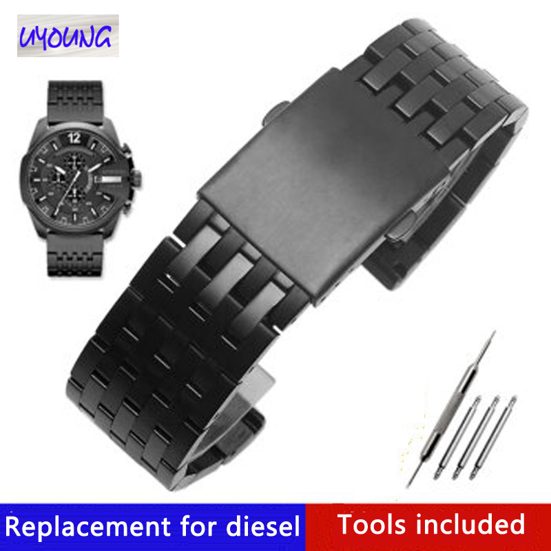 Solid Stainless Steel Strap Adapted To Diesel DJ4316 7205 7395 Male Large Steel Watch Belt 24mm 26mm 28mm 30mm Watch Band