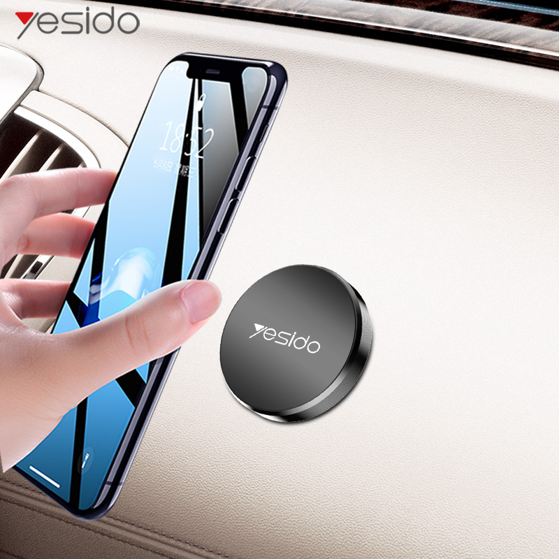 Yesido C38 Round Plate Magnetic Car Phone Holder Stand For IPhone Samsung Xiaomi Magnet Holder For Phone In Car Mount Holder
